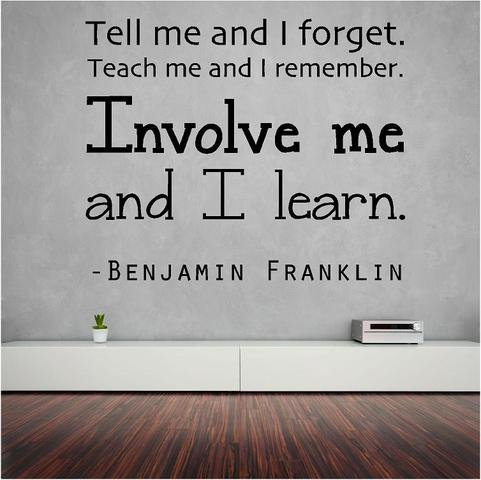 Benjamin Franklin Wall Lettering Education product image
