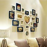 ZGP Home@Wall photo frame Solid Wood Living Room Wedding Photo Wall Love Heart Shaped Modern Children Bedroom Photo Wall Photo Frame (Color : D)