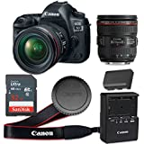 Canon EOS 5D Mark IV 30.4 MP CMOS Digital SLR Camera with 3.2-Inch LCD with EF 24-70mm f/4L IS USM Lens - Wi-Fi Enabled (Certified Refurbished)