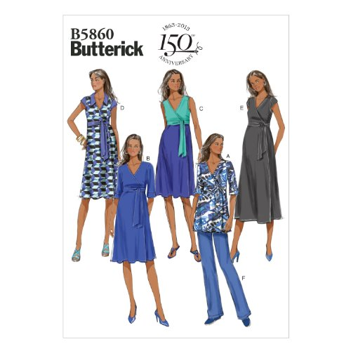 - Butterick Patterns 5860 Misses Maternity Top, Dress and Pants with Variations Sizes 16-18-20-22-24