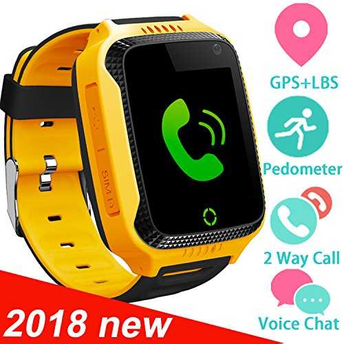 Yellow Girls Watch (Kids Smart Watch Phone for Girls Boys with GPS Locator Pedometer Fitness Tracker Touch Camera Games Light Touch Anti Lost Alarm Clock Smart Watch Bracelet (S8 Blue))