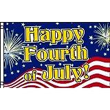 Alotta Signs Happy Fourth of July 3'x5' Poly Flag