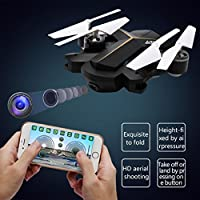 Leewa@ LeXiang 803 2.4G 6 Axis Gyro Foldable Headless Altitude Hold RC Quadcopter with 0.3MP Camera -Black