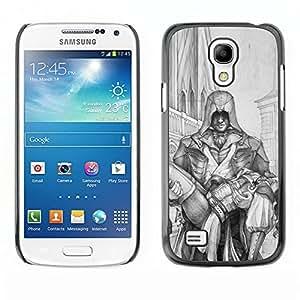 """For Samsung Galaxy S4 Mini (NOT for regular S4) Case , Hombre que lleva la mujer Héroe Arte Dibujo Lápiz"""" - Diseño Patrón Teléfono Caso Cubierta Case Bumper Duro Protección Case Cover Funda"""