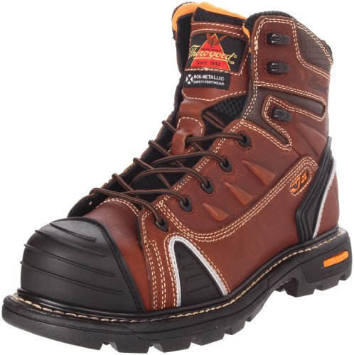 Thorogood Composite Safety Toe Gen Flex 804-4445 6-Inch Work Boot, Brown, 8 M US
