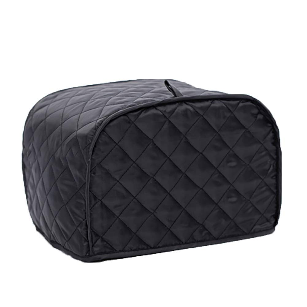 "2 Slice Bread Toaster Oven Dustproof Cover, Cotton Quilted Kitchen Broiler Appliance Organizer Bag, Home Kitchen Toaster Oven Wallets Hold Toaster Broiler Appliances Up To 11.5""L And 8"" H (Black)"