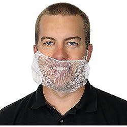 "UltraSource Beard Nets, Latex Free Polypropylene, Honeycomb, 21"" White (Pack of 100)"