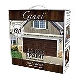paint front door  Wood Look Garage Door Paint Kit, 2 Car, Black Walnut