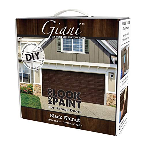 - Giani Wood Look Garage Door Paint Kit, 2 Car, Black Walnut