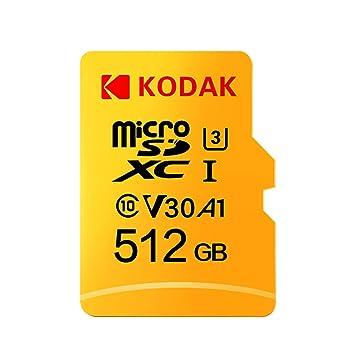 Docooler Kodak Tarjeta Micro SD de 512 GB TF Tarjeta de Memoria U3 ...