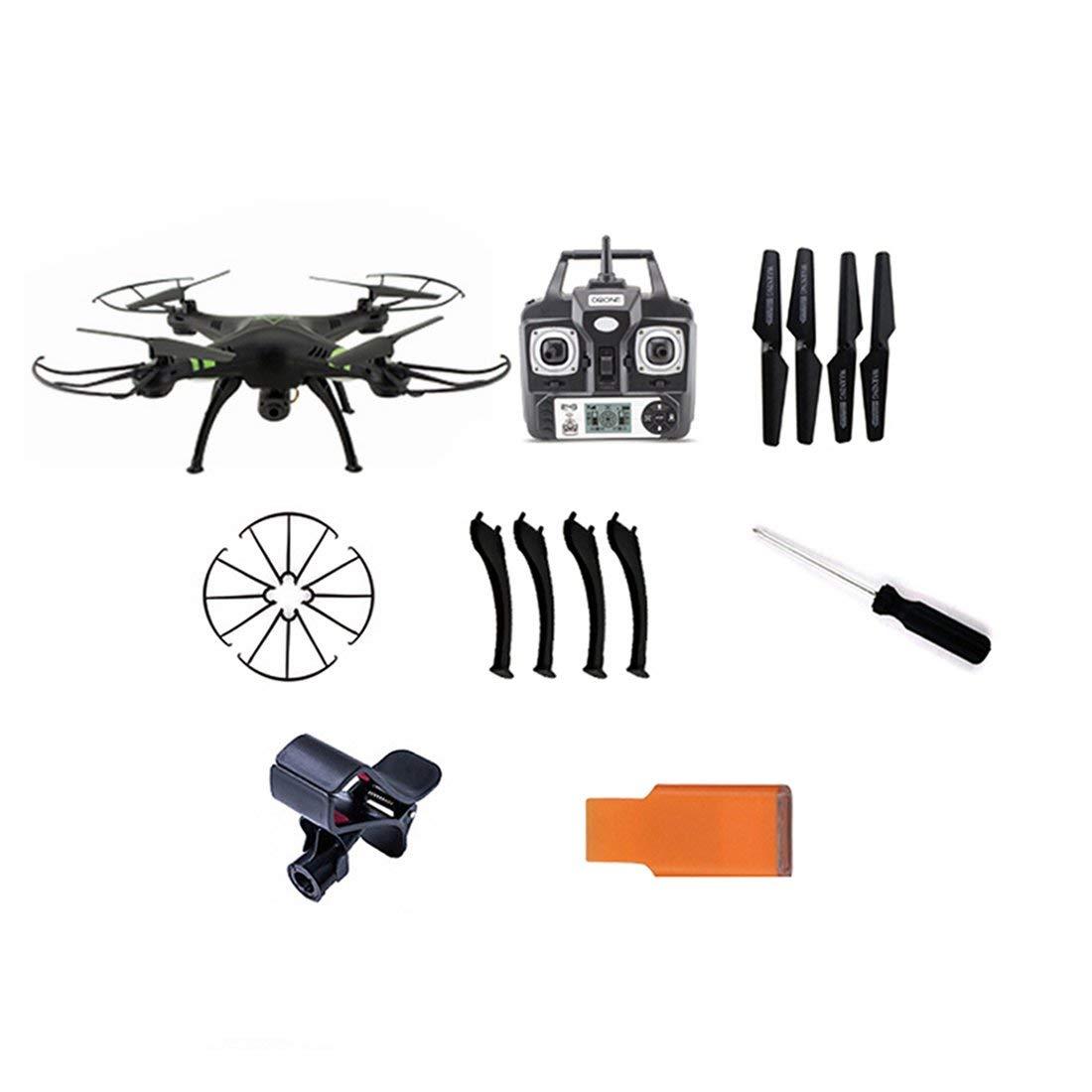 entrega de rayos Formulaone Drone X53 con 720M WiFi WiFi WiFi FPV y videollamada Clip-Retorno automático / Altura con vigilancia con Control Remoto Quadcopter - Negro  promociones de equipo