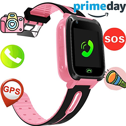 Kids Game Smart Watch Phone GPS Tracker Prime Deals Birthday Holiday Toy Gifts Girls Boys Activity Tracker Wrist Sport Watch with SIM Camera Two Way Calls Alarm Timer for Outdoor Run Summer Camping (Wrist Gps Tracker)