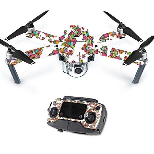 MightySkins Skin for DJI Mavic – Bouganvilla | Protective, Durable, and Unique Vinyl Decal wrap Cover | Easy to Apply, Remove, and Change Styles | Made in The USA