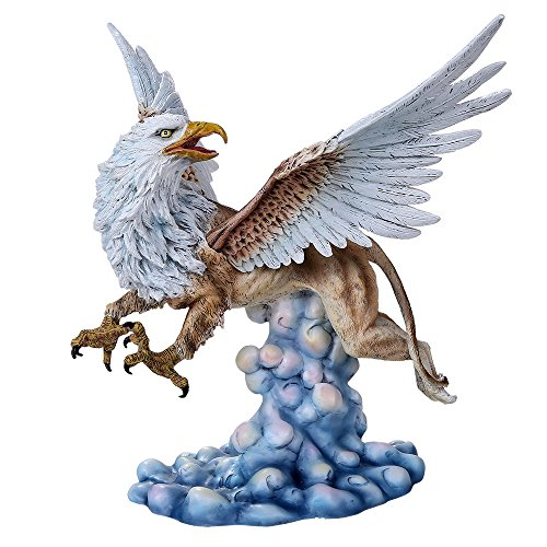 Pacific Giftware Legendary Heraldic Creature Griffin Figurine with Eagle Head Wings and Talons on Lioness Body Collectible Figurine