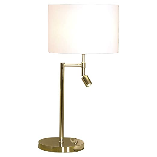 Clifford james dual 360 degree swing arm table lamp with a clifford james dual 360 degree swing arm table lamp with a additional led reading light aloadofball Gallery