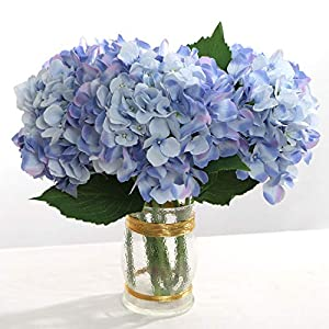 "Larksilk 27"" Silk Artificial Hydrangea Flower Fake Flowers for Decorations & Wedding Bridal Bouquets (Set of 3) 3"