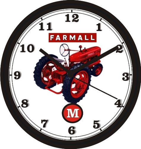 FARMALL -M- TRACTOR WALL CLOCK-Free USA Ship (Clock Wall Honda)