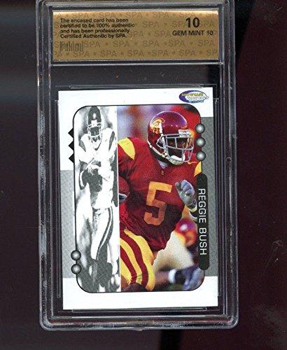 2005 Showcase Prospects Reggie Bush USC Graded ROOKIE Football Card SPA 10