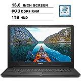Dell 2019 Inspiron 15 3000 i3576 15.6 Inch HD Laptop (Intel Quad-Core i5-8250U 3.40 GHz, 8GB DDR4 RAM, 1TB HDD, Bluetooth, WiFi, DVD, Windows 10, Black) (Renewed)