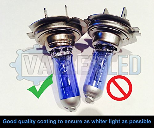PAIR T20 7443 580 W21//5W Xenon White DRL Side Halogen Headlight Bulbs 6000k