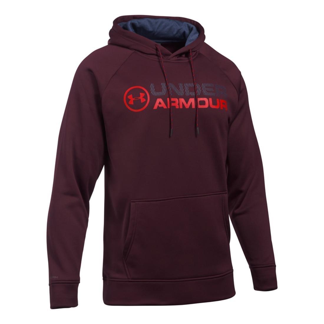 Under ArmourメンズStormフリースWordmark Hoodie 4XL-R Raisin Red B075DFSS73