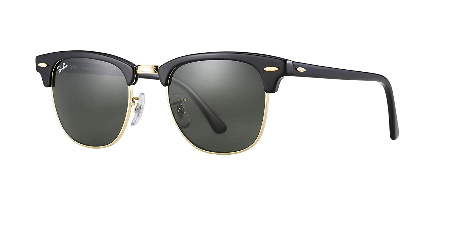 b5d947731e785 Amazon.com  Ray-Ban RB3016 Clubmaster Classic Unisex Sunglasses (Black  Frame Green G-15 Lens W0365
