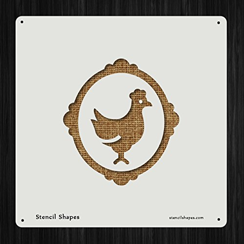 Heritage Breed Rooster Picture Frame, Style 7765 DIY Plastic Stencil Acrylic Mylar Reusable
