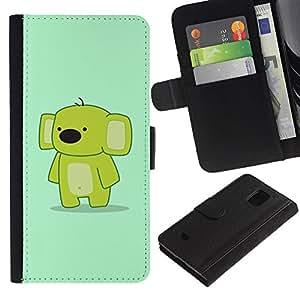 iBinBang / Flip Funda de Cuero Case Cover - Cute Funny friendly Koala - Samsung Galaxy S5 Mini, SM-G800, NOT S5 REGULAR!