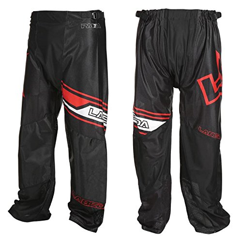 In Line Roller Hockey Pants - LABEDA Roller Hockey Inline PANTS PAMA 7.3 BLACK/RED Size L