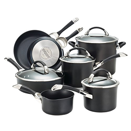 Circulon 87376 Symmetry Cookware Set, 11-Piece, Black ()