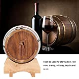 Aufee Beer Keg, 1L Mini Portable Household Oak Wood