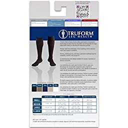 Truform Men\'s Knee High 15-20 mmHg Compression Dress Socks, Black, Medium (Pack of 2)