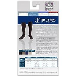 Truform Men\'s Knee High 15-20 mmHg Compression Dress Socks, Black, Medium (Pack of 2)
