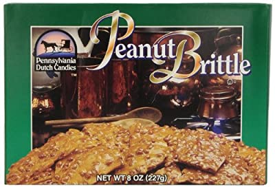 Pennsylvania Dutch Candies Peanut Brittle, 8-Ounces Boxes (Pack of 4)
