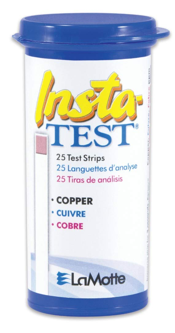 LaMotte Insta-Test Copper Test Strips, Swimming Pool and Hot Tub Test 25 Strips