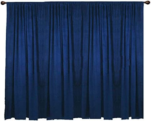 Amazon.com: SAARIA Navy Blue Luxury Decorative Velvet Stage