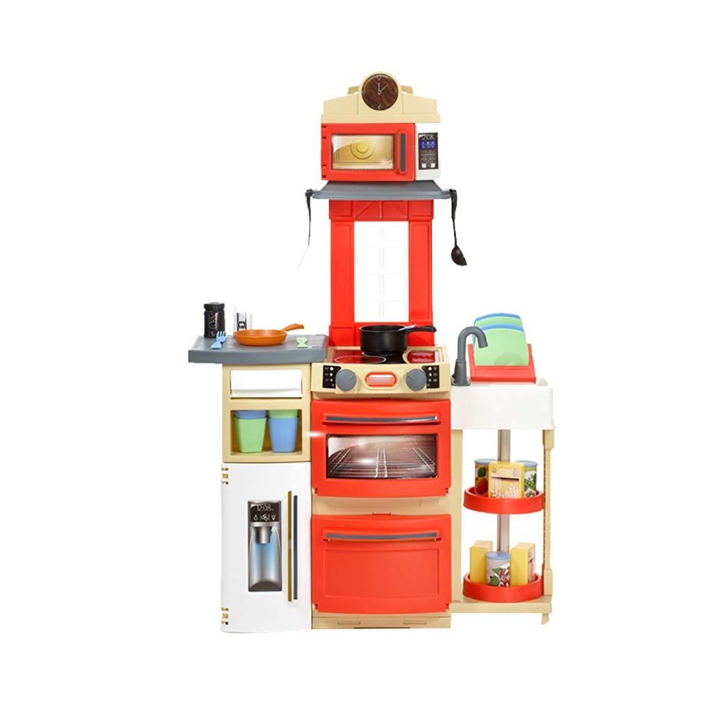 キッチン玩具 キッチン玩具 キッチンを遊ぶ 調理セット キッチンセット キッチンプレイセット 折りたたみ玩具 ーキッチンプレイセット 3歳以上のおもちゃ 子供向けギフト (Color : Red, Size : 67.5*99cm) 67.5*99cm Red B07T94PKH2