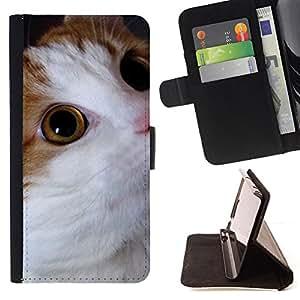 Stuss Case / Funda Carcasa PU de Cuero - Gato Cymric Bobtail americano somalí - Samsung Galaxy S6 Active G890A