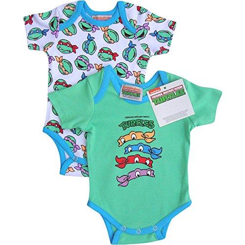 Baby Boy's Teenage Mutant Ninja Turtles Romper Sleep Suit (Set of 2)Baby Boy's Teenage Mutant Ninja Turtles Romper Sleep Suit (Set of 2) (0-3 Months)