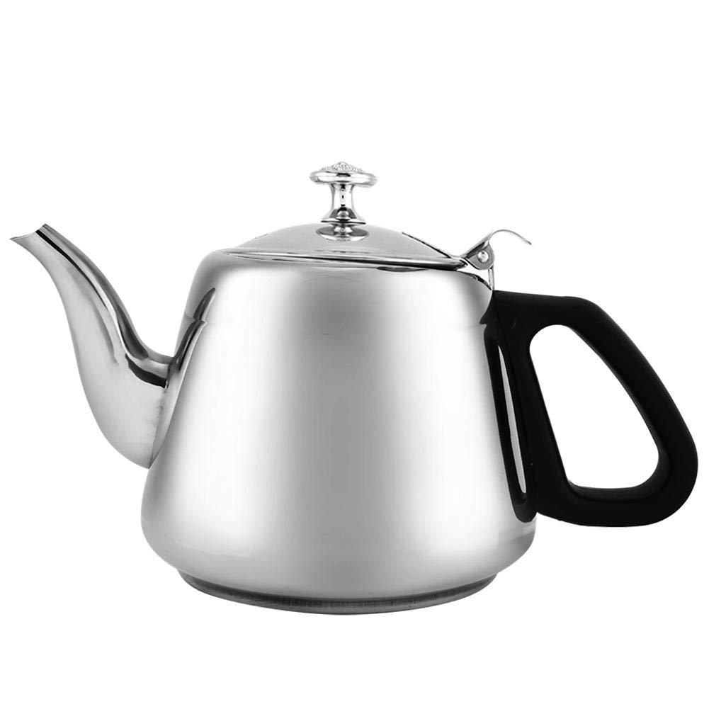 2L Tea Kettle Coffee Pot Steel Stovetop Teapot Stove Teakettles Black