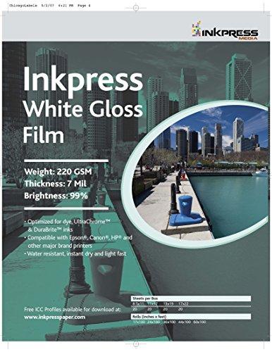 INKPRESS MEDIA WGF131920,220GSM,7MIL, 99 Percent Bright, Photo Paper (#WGF131920) by INKPRESS MEDIA