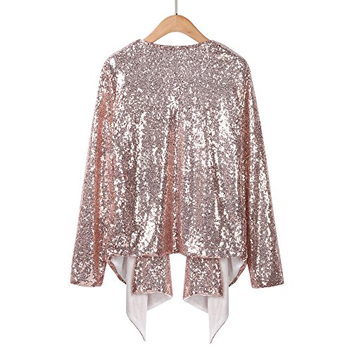 veste longues de Femmes Conception paillettes sans tops cardigan Manches minces 0XxZxw4