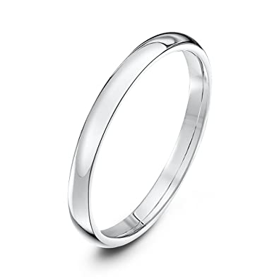 Theia Unisex Heavy Flat Shape Polished Platinum Wedding Ring TgEv6F74qu
