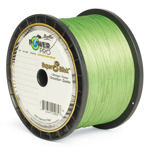 PowerPro Super 8 Slick Braided Fishing Line, 80-Pound/1500-Yard, Aqua Green