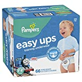 Pampers EasyUps Training Pants Pull On Disposable Diapers for Boys, Size 5 (3T-4T), 66 Count