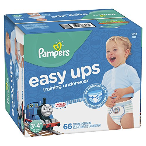 Pampers Easy Ups Training Boys Underwear, Size 5 3T-4T, 66 Count