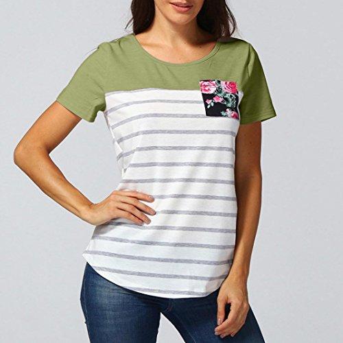SANFASHION SANFASHION Ballerine Shirt155 Damen Verde Bekleidung Donna vPrwzvq