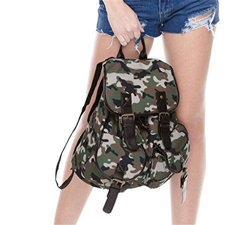 SHFANG Student Schultasche Freizeit 3D Druck Camouflage Doppel Schultertasche Oxford Shopping 32 * 36 * 15cm