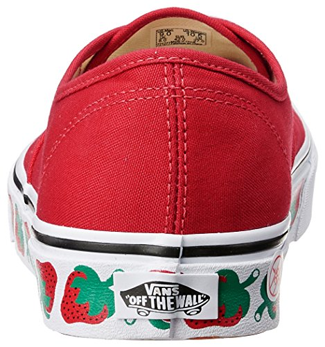 Top Women's Sneakers Ua Red Strawberry Vans Black Tape Red Low Authentic IAxS4