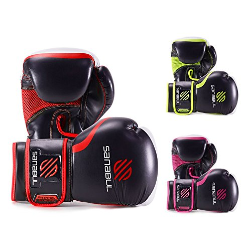 Sanabul Essential Gel Boxing Gloves Essential Boxing Gloves Red 16-oz